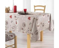 couleur montagne nappe rectangle 150x240cm chouetti lin