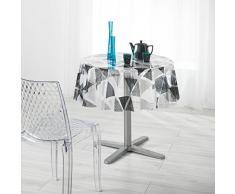 DECORLINE Pyramide Nappe Cristal 14/100E PVC Imprime 140 x 140 cm
