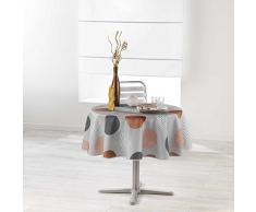 Douceur dIntérieur Nappe Ronde, Polyester, Cuivre, 180x180 cm
