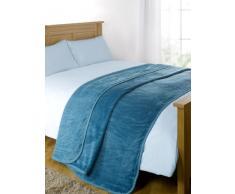 Dreamscene Luxe imitation fourrure vison Polaire Couvre-lit/plaid sur canapé lit doux Couverture chaude, Noir, 125x 150Cm-p, Polyester, bleu sarcelle, King - 200 x 240 cm
