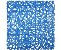 ID Mat 525205 Mixy Tapis Fond de Douche PVC Bleu 52 x 52 x 0,4 cm