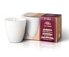 The Greatest Candle In The World Pack de Bougie et Recharge avec Parfum de Spice Wood, Blanc, 8.2Â x 8.2Â x 8.8Â cm