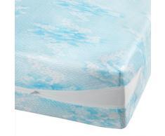 Douceur dIntérieur Rénove Matelas Polyester Maille Extensible Bleu 190 x 140 x 190 cm