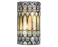 Lumilamp 5LL-5508 Applique murale style Tiffany en verre coloré fait main 20 x 11 x 36 cm