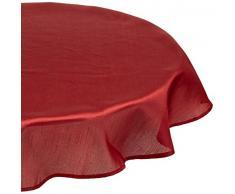 Calitex SXN8829661A Effet Soie Nappe Polyester Bordeaux 180 x 180 cm