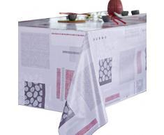 CALITEX KOMO, Nappe Toile Cirée Rectangulaire, PVC, Beige, 140x250 cm