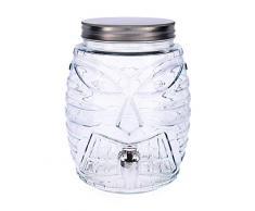 Quid Habitat Distributeur de boissons avec robinet, verre, 5 l