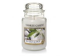 Yankee Candle 1507710E Bougie Parfumée Grande Jarre à Sel de Mer et Sauge Combinaison Rose 10 x 9,8 x 14,7 cm 623 g
