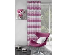 eurof irany ZAS/Bess/B + róż Rideau Bess Rideau à œillets, Polyester, Rose, 0,02x 140x 250cm