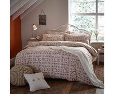 Catherine Lansfield brossé vintage Patchwork Parure de lit double, Naturel