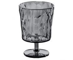 Koziol 3577540 Crystal 2.0 Verre à Pied Plastique Transparent/Gris/Bleu 6,4 x 6,4 x 10 cm 250 ml