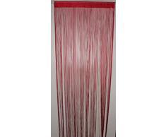 HomeMaison HM69807481 Rideau à Fils Spaghetti Rouge