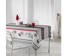 Le Jardin des Cigales Bbq Nappe Rectangle Fils Coupes Imprimé, Polyester, sans, 200 x 150 cm