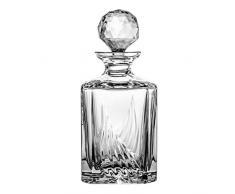 Crystaljulia 12656 Carafe à whisky cristal au plomb Transparent