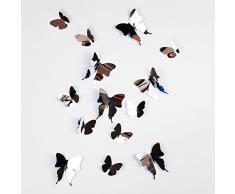 Walplus Miroir 3D Papillons 50x70 cm Autocollant Mural Amovible Autocollant Art Mural Décalques Vinyle Maison Décoration DIY Vivant Chambre Bureau Décoration Papier Peint Chambre DEnfants Cadeau