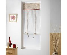 Homemaison Petits Cœurs Store droit Relevable Polyester Rouge 60 x 150 cm