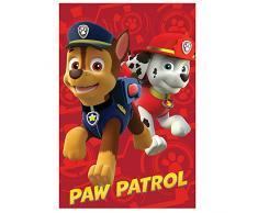 Patrouille canine ni-720–242, couverture polaire avec motif patrouille canine, 100x 150cm