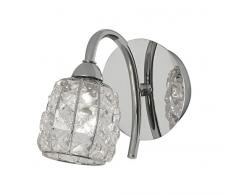 Naira Oaks Lighting Applique murale Chrome poli Abat-jour à perles avec cristaux