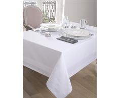 CALITEX Nappe DAMASSEE Bande Satin Blanc (150x300)