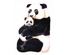Dintex Tapis antidérapant enfant en tissu 55 x 90 cm Panda Noir/blanc