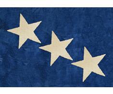 Aratextil Europe Tapis Enfant, Coton, Marine, 120Â x 160Â cm