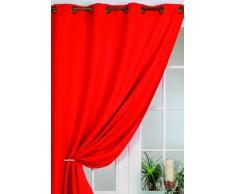HomeMaison HM6985063404 Rideau 100 % Occultant Vu sur D & Co Rouge