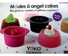 Yoko Design 1258 Moule à Angel Cake Silicone/Platinum Fuchsia/Violet Foncé 7x13 cm - 250 ml