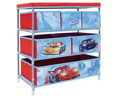 Fun House 712514 Disney Cars Etagère de Rangement avec 6 Casiers pour Chambre dEnfant