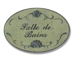 Stupell Home Aspect craquelé de Salle de Bains de Baignoire Ovale Plaque Or