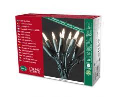 Konstsmide 6304-100 Mini Guirlande 100 LED Blanc Chaud Retro Design + Câble Vert 230 V