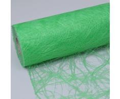 HKT Home Deco Sizoweb Chemin de table vert fluo–20cm–Rouleau 25m–64141-R 200