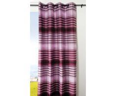 LOVELY CASA R66503003 Tiago Rideau à Œillets Polyester Violet 135 x 240 cm