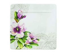 Villeroy & Boch 10-4380-2613 Assiette Plate Porcelaine Rose 29,5 x 29,5 x 8,5 cm Convient pour 1Â Personne