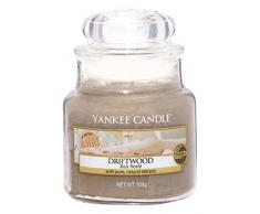 Yankee Candle bougie petite jarre «Bois flotté», marron