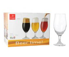 Bormioli 128550-B25 Executive Beer Time Verre à bière Transparent 53 cl Set de 6