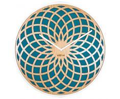 NeXtime 3150TQ Sun Horloge Bois Turquoise 35 x 35 x 5 cm