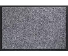 ID Mat Tapis Paillasson, Fibres Nylon sur Semelle PVC caoutchouté, Gris, 80 x 150 cm