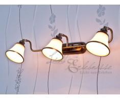 lampe miroir art nouveau en bronze 3xE14 bras mobiles applique lampe murale salle de bain salon