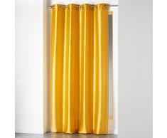 douceur dintérieur rideau a oeillets 140x240 cm shantung shana moutarde