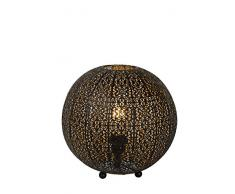 Lucide TAHAR - Lampe De Table - Ø 33 cm - Noir