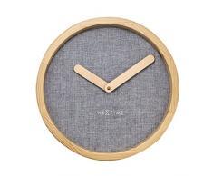 NeXtime 3155GS Calm Horloge Bois Gris 30 x 30 x 4 cm