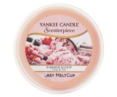 Yankee Candle coupelle de cire «Glace d'été» pour diffuseur Scenterpiece™, rose