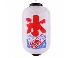 lachineuse LAMPION Japonais Blanc - Boissons FRAICHES - Idéal pour lExtérieur