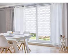 Khome Klemmfix Store Double à Enrouleur Blanc 100 x 200 cm