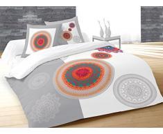 Soleil dOcre 636536 Fantasy Parure de Couette Coton Multicolore 260 x 240 cm