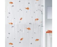 Spirella 10.00097 Rideau de Douche Goldfish Orange Vinyl 180 x 200 cm