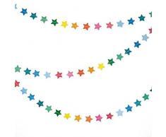 Party Pro 50273 Guirlande étoiles, Papier, Multicolore, 300 x 3 x 0,1 cm