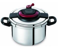 Autocuiseur SEB Clipso Plus P4370706 6L : 4 à 6 personnes - 2 programmes de cuisson - Panier vapeur - Ouverture/fermeture ultra facile - Poignées rabattables - Tous feux dont induction