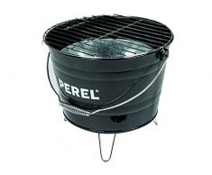 Perel BB100101 Seau à Barbecue Noir