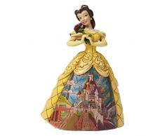 Disney Traditionsitions Figurine Belle en Robe avec Son Château